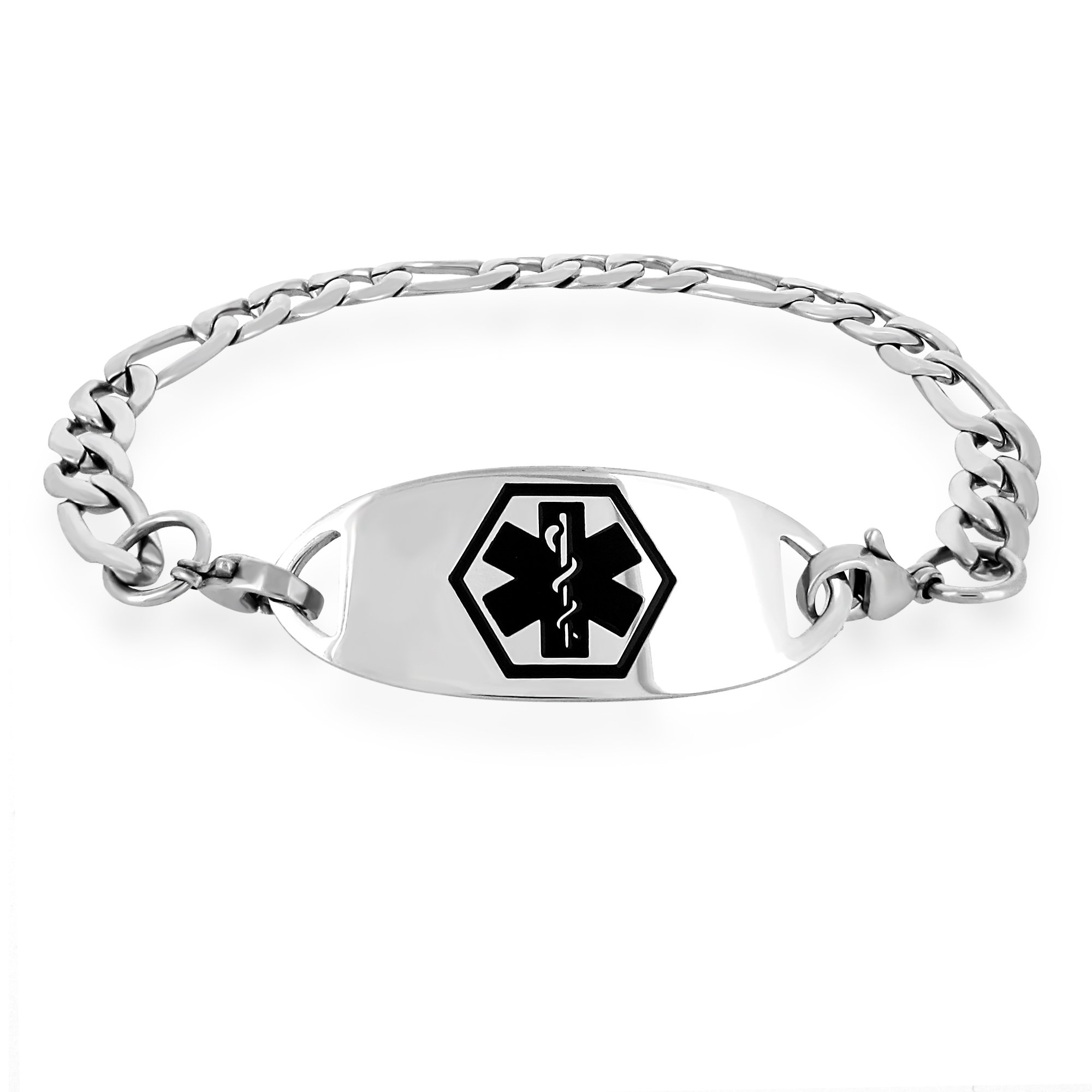 alert choose steel products x bracelet curb your shop seizure data size xx stainless engraving and universal ladies custom medical link plate